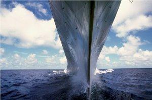 USS MISSOURI - BB 63 Underway Photograph 8X12