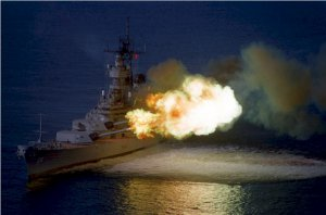 USS WISCONSIN BB 64 Sea Trials Photograph 8X12