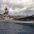 USS IOWA BB 61 off St. Thomas Photograph 8X12