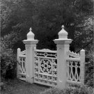 Black and White Photo 8X10 Garden Gate at Bluff Hall