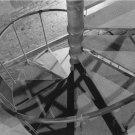 Black and White Photo 8X10 Spiral Staircase Grain Elevator