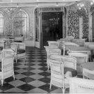 Black and White Photo 8X10 Titanic Veranda Cafe and Palm Court