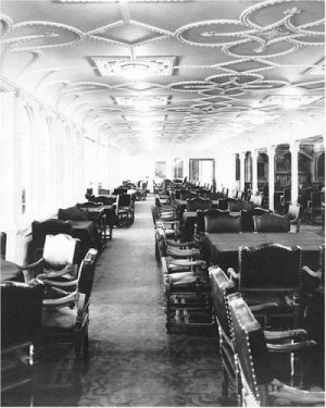 Black and White Photo 8X10 Titanic First Class Dining Salon