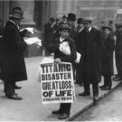 Black and White Photo 8X10 Titanic Newsboy in New York City