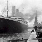 Black and White Photo 8X10 Titanic at Southampton Docks