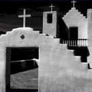 Black and White Photo 8X10 Adobe Church