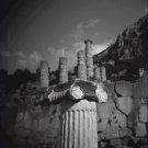 Black and White Photo 8X10 Marble Column Near Temple of Apollo in Delphi