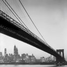 Black and White Photo 8X10 Brooklyn Bridge and Manhattan Skyline