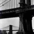 Black and White Photo 8X10 Brooklyn and Manhattan Bridges