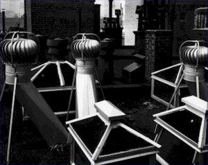 Black and White Photo 8X10 Rooftop Ventilators Chimneys Manhattan 1945