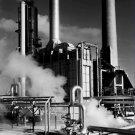 Black and White Photo 8X10 Smoke Stacks and Steam