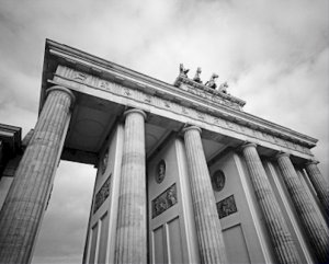 Black and White Photo 8X10 Brandenburg Gate