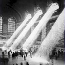 Black and White Photo 8X10 Sunbeams in Grand Central Station