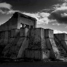 Black and White Photo 8X10 Temple Ruins in Mexico