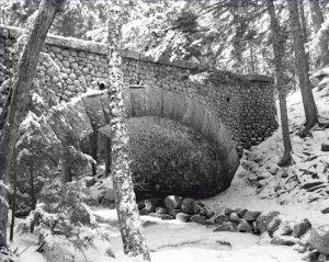 Black and White Photo 8X10 Cobblestone Bridge Winter