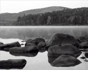 Black and White Photo 8X10 Fall at Eagle Lake