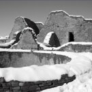 Black and White Photo 8X12 Snow Aztec Ruins Chaco Canyon