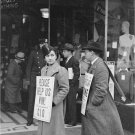 Labor Unions Photo 8X12 CIO Strike pickets New York December 1937