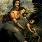 The Virgin and Child with Saint Anne Poster 20X30 Art Print