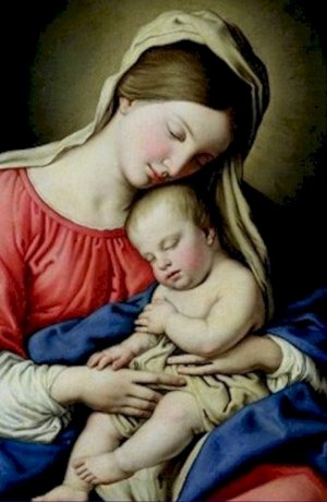 Madonna and Child Sassoferrato Poster 20X30 Art Print