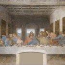 The Last Supper Leonardo da Vinci Post Restoration Poster 20X30 Art Print