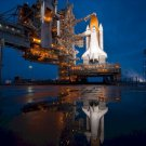 Space Shuttle Atlantis STS-135 Prelaunch Reflection Poster 20X30 Art Print