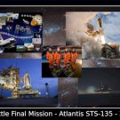Space Shuttle Atlantis STS-135 Tribute Poster 20X30 Art Print