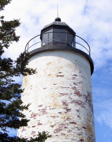 Acadia National Park Lighthouse on Baker Island 11x14 Photograph