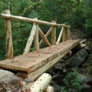 Acadia National Park Wooden Bridge 8X10 Photograph