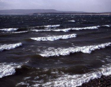 Yellowstone National Park Waves on Yellowstone Lake 12x16 Canvas