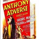Anthony Adverse - DVD - 1936 - Fredric March  Olivia De Havilland  Donald Woods