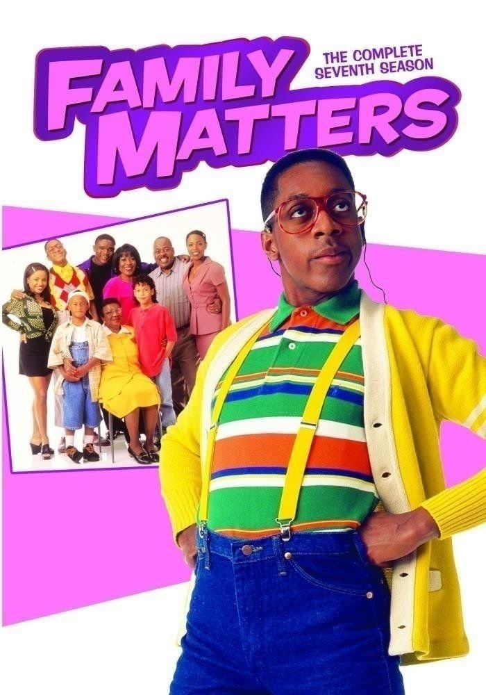Family Matters The Complete Seventh Season 7 - DVD - Jaleel White as Urkle (MOD)