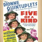 Five of a Kind DVD 1938 The Dionne Quintuplets Jean Hersholt Cesar Romero