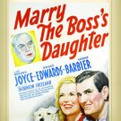 Marry The Boss's Daughter DVD 1941 Brenda Joyce, Bruce Edwards, George Barbier