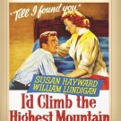 I'd Climb The Highest Mountain DVD 1951 Susan Hayward William Lundigan