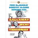 Callaway Went Thataway - DVD - 1951 Fred Macmurray, Dorothy Mcguire, Howard Keel