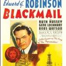 Blackmail - DVD - 1939 Edward G. Robinson, Ruth Hussey, Gene Lockhart (MOD)