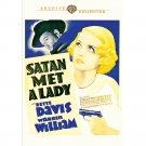Satan Met a Lady - DVD - 1936  Bette Davis, Warren William, Alison Skipworth