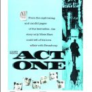 Act One - DVD - 1963  George Hamilton, Jason Robards, Jack Klugman Eli Wallach