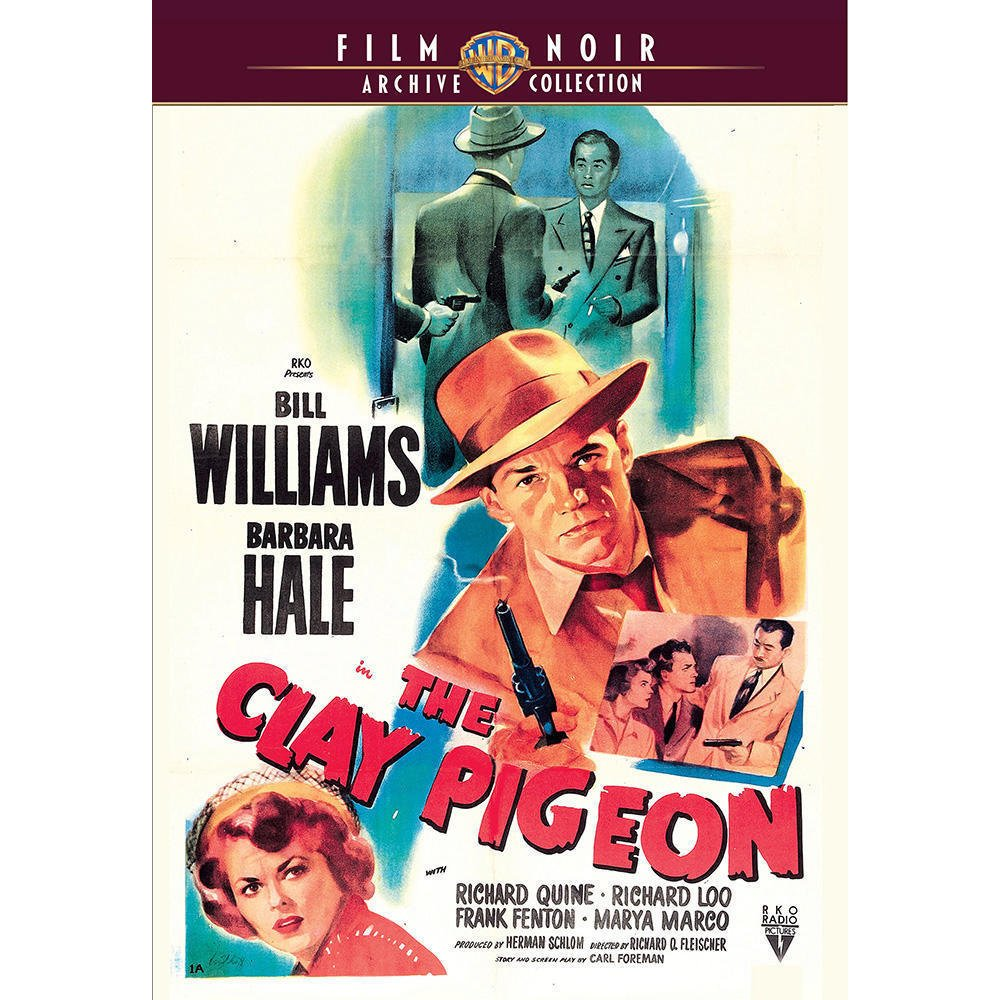 The Clay Pigeon - 1949 - DVD - Bill Williams, Barbara Hale, Richard Quine