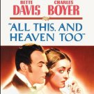 All This and Heaven Too - DVD - 1940 Bette Davis, Charles Boyer (MOD)