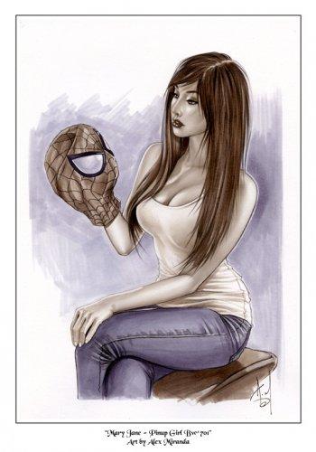 Alex Miranda - Mary Jane Bw#701 - Sexy Pinup Girl Print