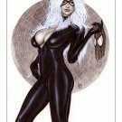 Alex Miranda -Black Cat Bw#705 - Sexy Pinup Girl Print