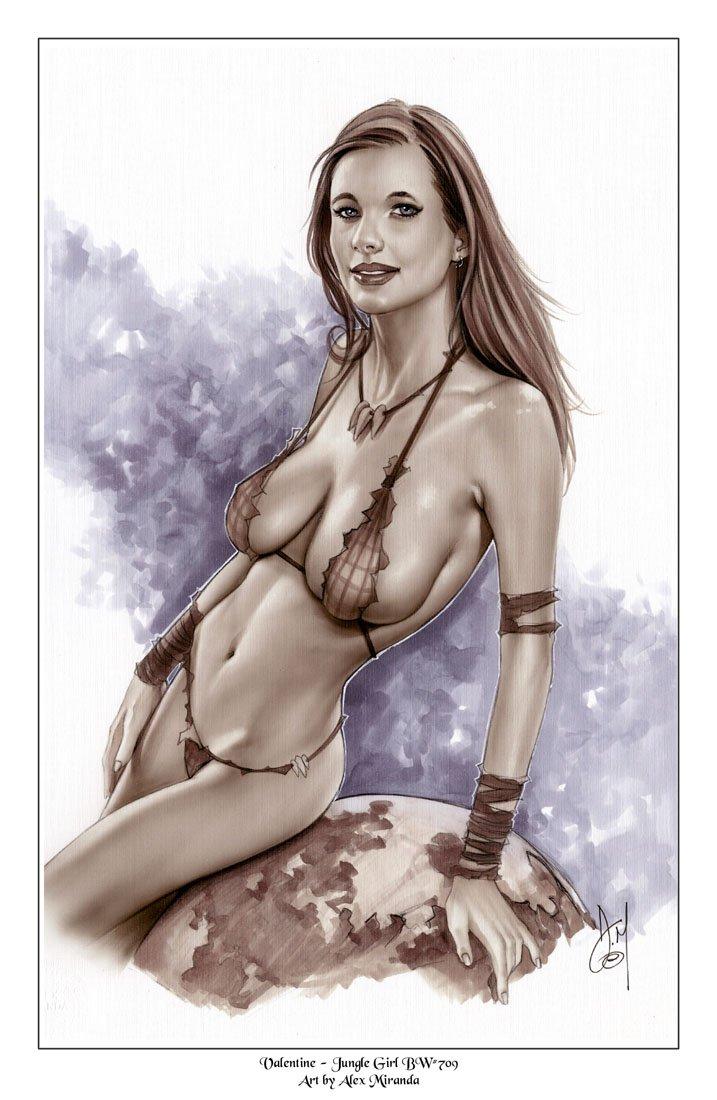 Alex Miranda - Jane - Super Hot Girl Bw#708 - Supergirl Pinup Print