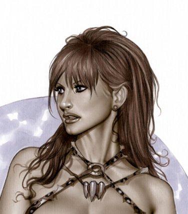 Cavegirl Bw#475 - Fantasy Pinup Girl Print