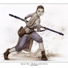 Rey - Star Wars  Bw#699 - Fantasy Pinup Girl Print