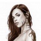 Cassandra Elf Girl Bw#694 - Fantasy Pinup Girl Print