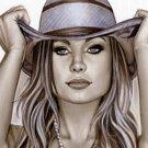 Hot Andressa Cowgil Bw#907 - Fantasy Sexy Pinup Girl Print