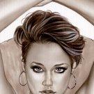 Sabrina Nichole - Playboy l Bw#911 - Sexy Pinup Girl Print