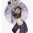 Babydoll Sucker Punch Bw#925 - Fantasy Pinup Girl Print